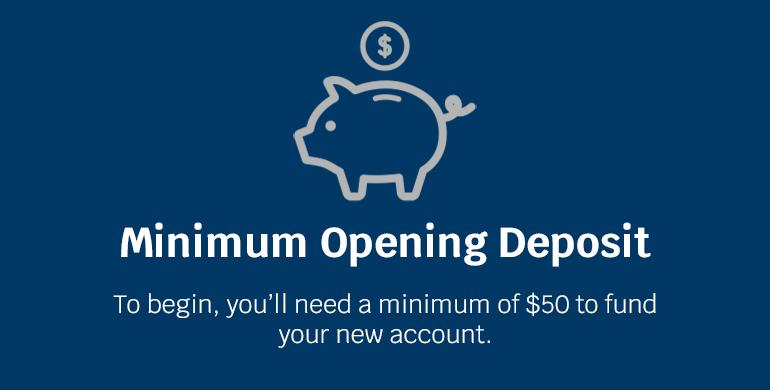 minimum opening deposit